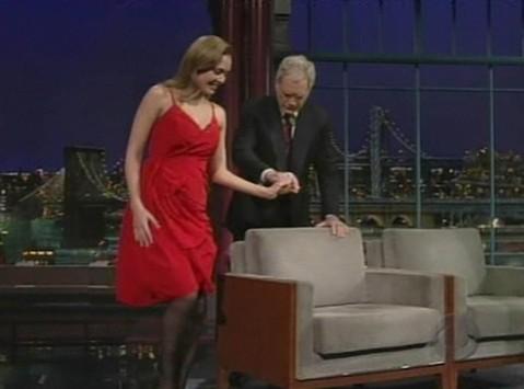 Pregnant Jessica Alba on DavidLetterman