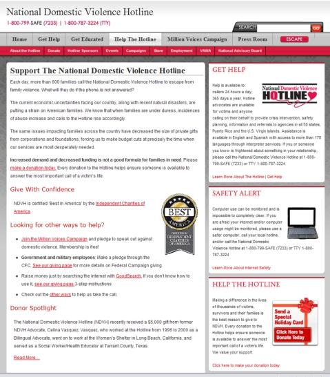 Help NDVH Web site